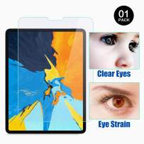 PERFECTSIGHT Anti Glare Screen Protector for iPad Pro 11 Inch (2020 and 2018 Model), Blue Light Filter Anti Fingerprint Tempered Glass [1 Pack]