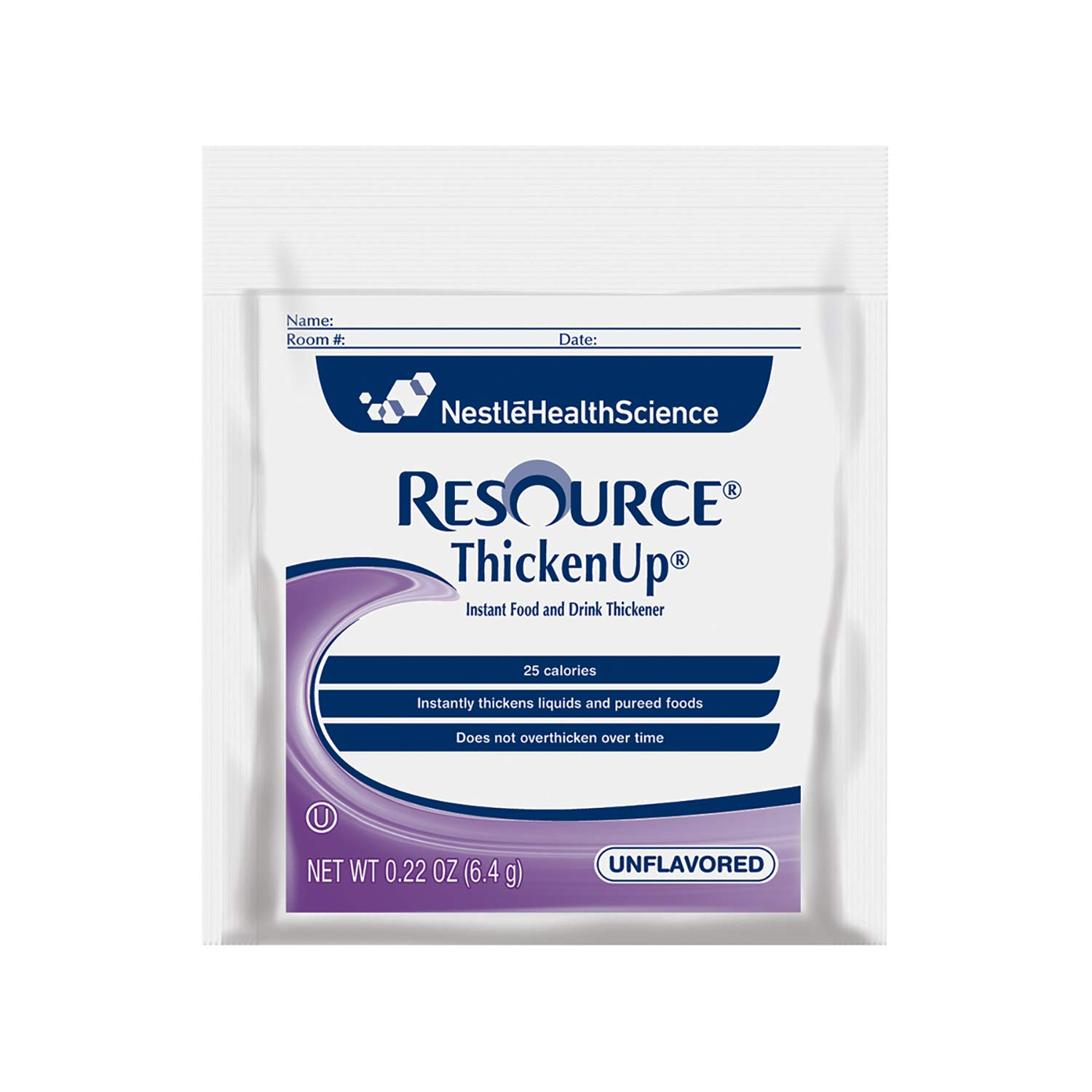 Resource ThickenUp Instant Food and Drink Thickener Powder, Unflavored, 0.22 oz Packet, 75 Pack