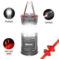 LED Camping Lantern, COSOOS Rechargeable Lantern Flashlights with Built in Battery, 4 Lighting Mode, Best for Tent, Hiking, Outages, Emergency, Hurricane, Support AA Battery(Not Included)