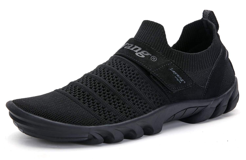 Leyang Mens Womens Walking Shoes Barefoot Mesh Slip-on Running Sneakers Zero Drop Sole