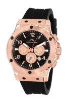 Porsamo Bleu Luxury Marcus Silicone Rose Tone & Black Men's Watch 652CMAR