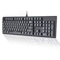 M104 Mac Layout Mechanical Keyboard, VELOCIFIRE 104-Key Full Size Mechanical Keyboard with Tactile Brown Switch, and LED White Backlit, Compatible with Mac (Black)