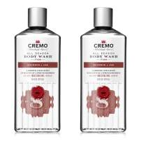 Cremo All Season Body Wash, Bourbon & Oak, 16 Fl. Oz, 2 Pack - Masculine Scent With A Tantalizing Essence Of Lively Distiller's Spices, Smoked Bourbon & Oak