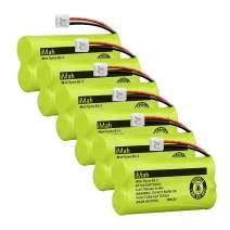 iMah BT18433 BT28433 Cordless Phone Battery Pack Compatible with VTech BT184342 BT284342 BT-1011 BT-1018 BT-1022 BT-1031 CS6219 CS6229 DS6301 DS6151 DS6101 Home Handset Telephone (Pack of 6)