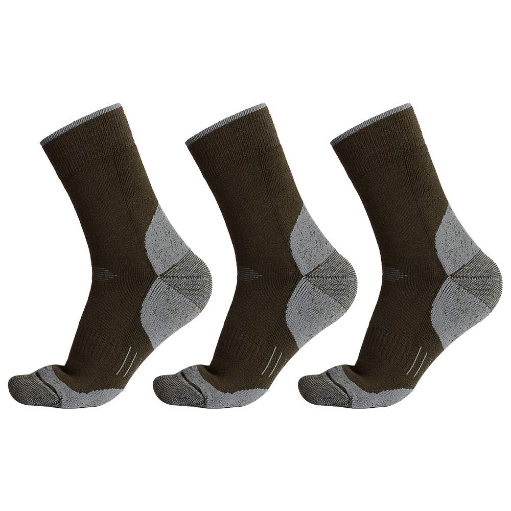 Forestgrow Merino Wool Hiking Cushion Crew Socks Midweight Warm Socks Trekking Outdoor Men Women Multi
