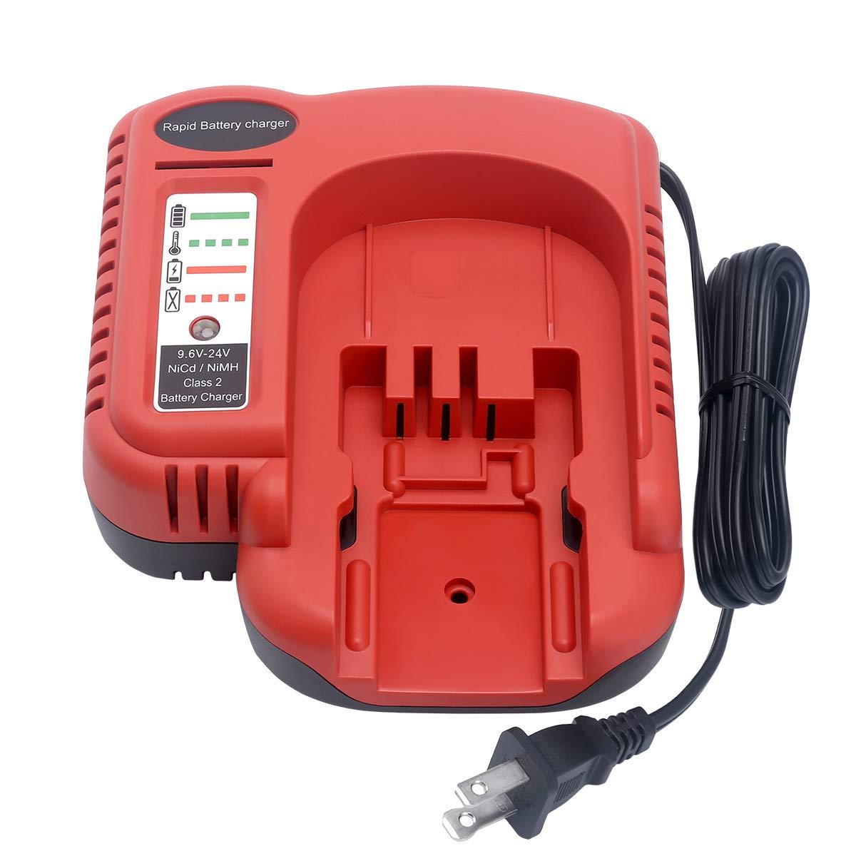 Biswaye 9.6V-18V-24V Battery Charger for Black+Decker FSMVC BDCCN24 BDFC240, for Black & Decker 18V 14.4V 12V 9.6V 24V NiCD&NiMH Battery HPB18 HPB14 HPB12 HPB24 Black Decker 18V Battery Charger