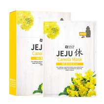 SNP - Jeju Rest Canola Korean Face Sheet Mask - Plumping & Tightening Effects for All Skin Types 10 Sheets - Best Gift Idea for Mom, Girlfriend, Wife, Her, Women