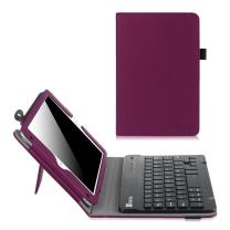 Fintie Keyboard Case for iPad Mini 4 - Premium PU Leather Folio Stand Cover with Removable Wireless Bluetooth Keyboard for iPad Mini 4 (2015 Release), Purple