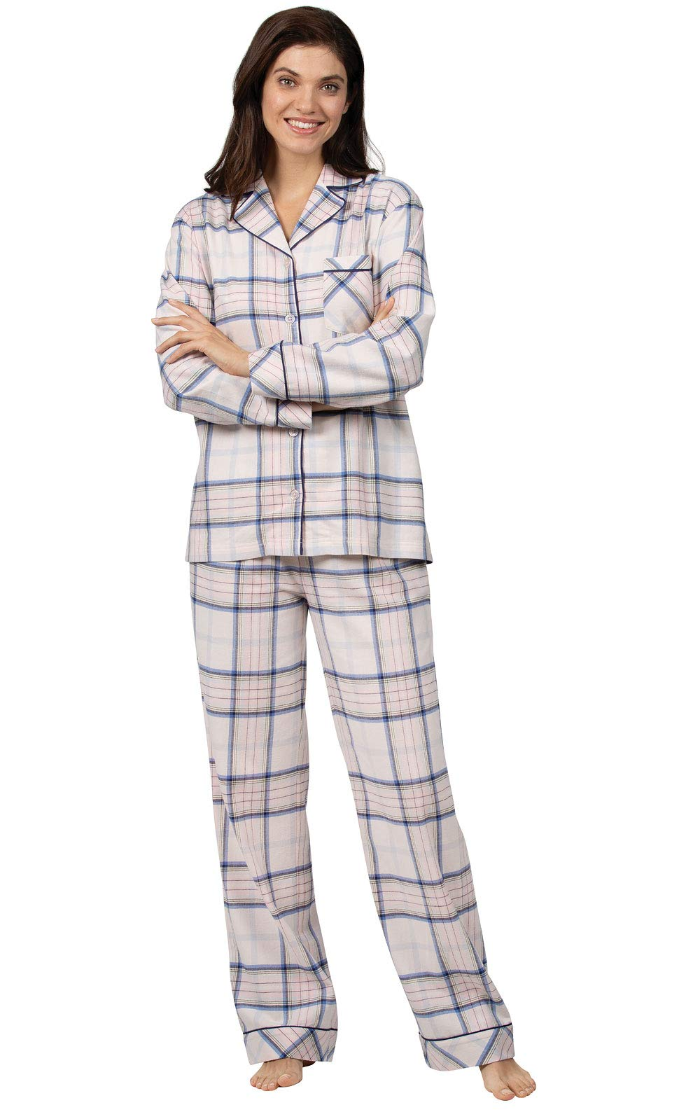 Addison Meadow Flannel Pajamas Women - Women Flannel Pajamas, Boyfriend, Plaid
