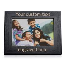 "Lifetime Creations Create Your Own Personalized Picture Frame - Black (5"" x 7"" Landscape), Engraved Design Your Own Picture Frame"
