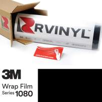 3M 2080 G12 Gloss Black 5ft x 6ft W/Application Card Vinyl Vehicle Car Wrap Film Sheet Roll