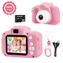 Digital Camera for Kids,ASIUR 1080P FHD Kid Digital Video Camera Children Camera with 16GB SD Card for 3-10 Years Girls