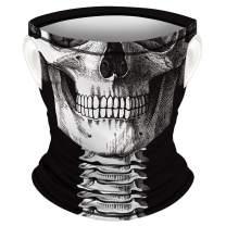 Neck Gaiter Face Mask Reusable Reusable Washable Cloth Bandanas Women Men Neck Gaiter Cover Balaclava Scarf