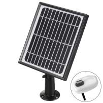 Solar Panel Power Supply for Wireless Outdoor Rechargeable Battery Powered IP Security Camera,5V 3.4w 582mA