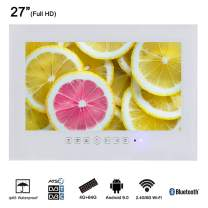 """Soulaca 27"""" Framless White Waterpoof TV Android Support LAN WiFi T270FA-W"""