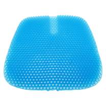 Gel Seat Cushion,Double-Layer Thick Egg Gel Seat Cushion with Non-Slip Cover,Multi-Use Seat Cushion Super Breathable for Car, Office Chair, Wheelchair or Home,Pressure Pain Relief