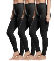High Waist Leggings for Women-Tummy Control Soft Opaque Stretchy Pants for Yoga