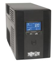Tripp Lite 1500VA UPS Battery Back Up AVR LCD Display 10 Outlets 120V 810W Tel & Coax Protection USB, 3 Year Warranty & $250,000 Insurance (OMNI1500LCDT),Black