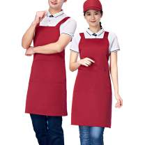 Homsolver Three Pockets Adjustable Bib Adult Apron - Extra Long Ties - Kitchen Apron, Money Apron, Waitresses Apron - Cooking Kitchen Aprons Women Men