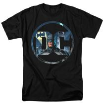 Batman DC Comics Logo T Shirt & Stickers