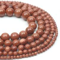 """Oameusa Natural Round Smooth 6mm Gold Sand Goldstone Beads DIY Materials Bracelet Necklace Earrings Making Jewelry Agate Beads for Jewelry Making 15"""" 1 Strand per Bag-Wholesale"""