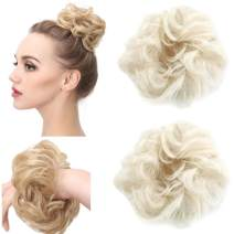 Curly Messy Wrap Hair Scrunchies Fake Bun Hairpiece Extensions Elastic Synthetic Blonde Hair Piece Scrunchy Curl Ponytail Tail Updo Accessories H2&60