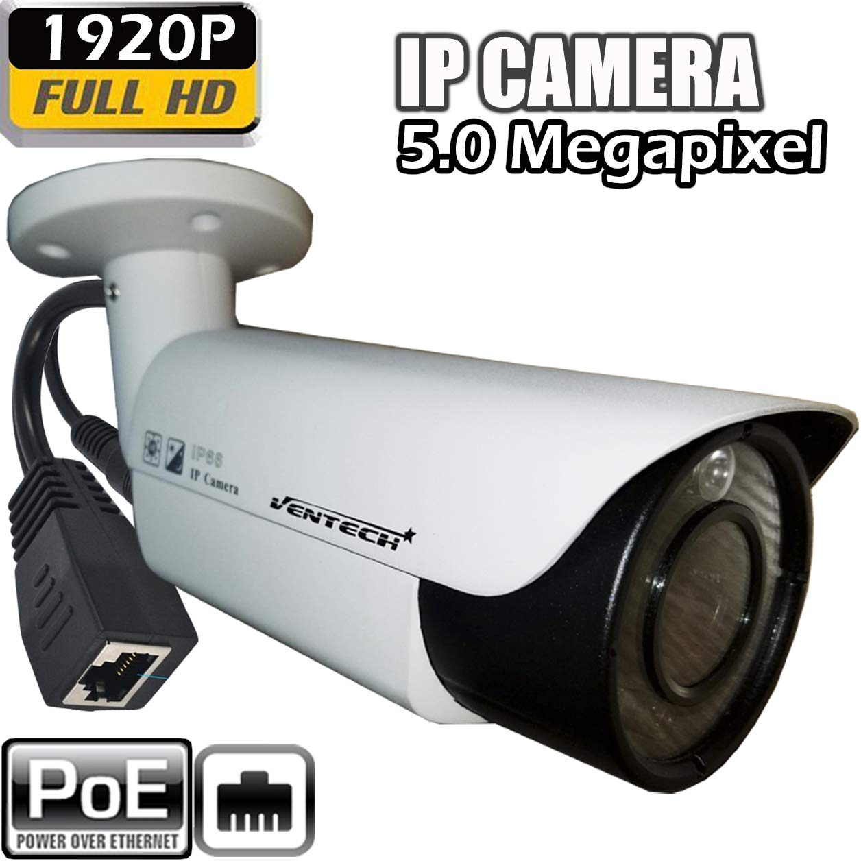 IP poe Camera with Motorized Zoom 5mp Security Bullet Outdoor onvif 1920p