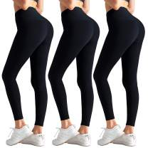 High Waisted Leggings for Women Butt Lift - Tummy Control Yoga Pants Workout Running Tights