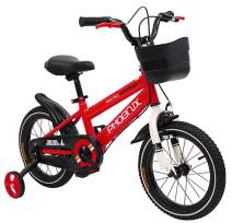PHOENIX KAKU Kids Bike for Boys and Girls, 12 14 16 18 inch with Training Wheels, in Multiple Colors