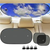 Big Ant Car Sun Shade,Car Sunshade Set for Baby,Rear Window Shade and 2 Side Window Shades Blocking Sun Heat UV Rays Glare for Children and Pets