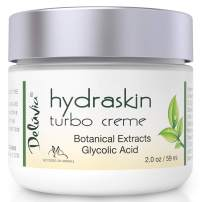 Night Cream Face Moisturizer with Glycolic Acid, Hyaluronic Acid, AHA, Organic Aloe Vera, Rosehip Oil, Vitamin C, Vitamin E, CoQ 10 and MSM. Turbo Cream by Deluvia