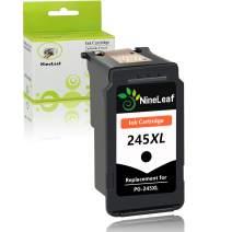 NineLeaf 1PK Black Ink Cartridge Remanufactured PG-245XL 245XL PG-245 PIXMA MG2520 PIXMA MG2520 IP2820 MX492 MG MX Printers