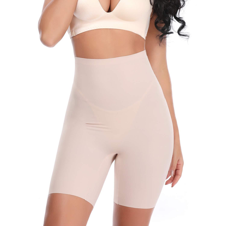 Vaslanda Seamless High Waist Smooth Slip Shorts for Under Dress, Ultra-Thin Tummy Control Panty, Butt Lifter Underwear