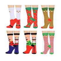 Unisex Christmas Novelty Socks Cotton Colorful Fashion Design Socks Holiday Socks 10-13