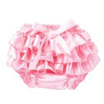 WINZIK Baby Girls Kids Bloomers Diaper Covers Shorts Underwear Panty Pretty Ruffle Briefs Elastic Waistband Cotton Pants