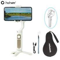 Hohem iSteady X Smartphone Gimbal Stabilizer 259g Ultra-Light Weighted 280g Payload Selfie Stick Mode Low-Angle Shooting Mode Moment Mode, White