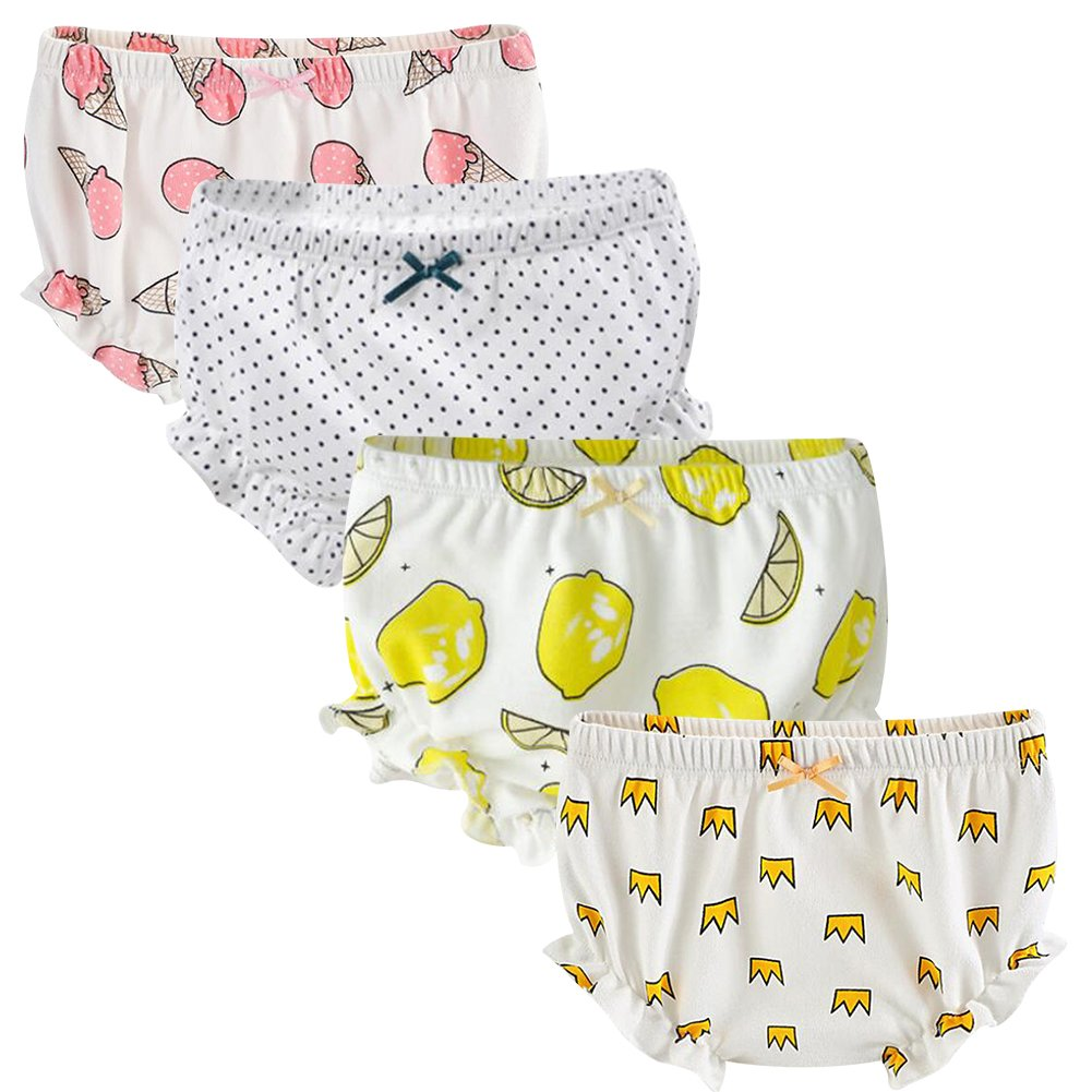 The B-Style TB Baby Diaper Covers Combed Cotton Underwear Soft Cartoon Bloomers 4 Pack