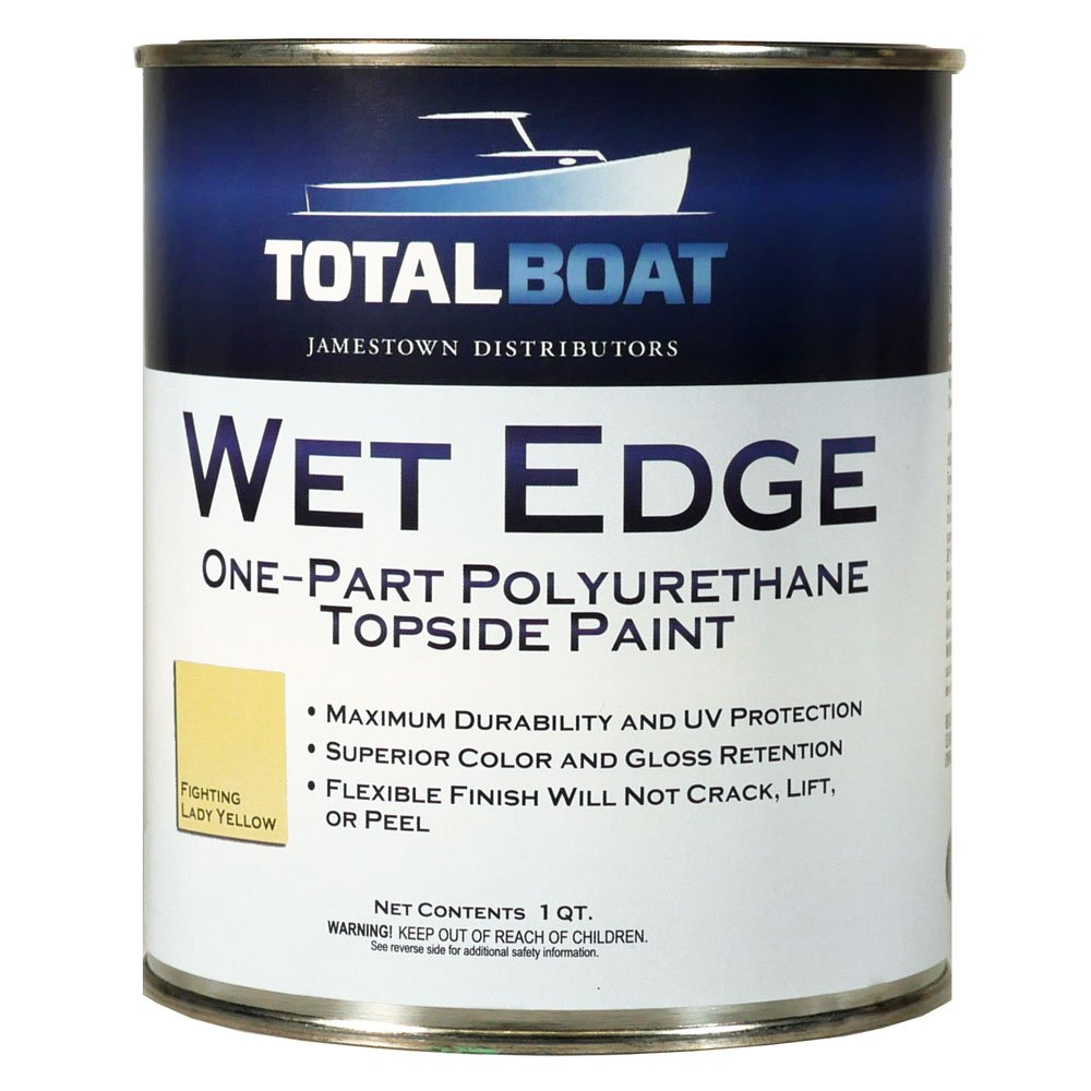 TotalBoat Wet Edge Topside Paint (Fighting Lady Yellow, Quart)