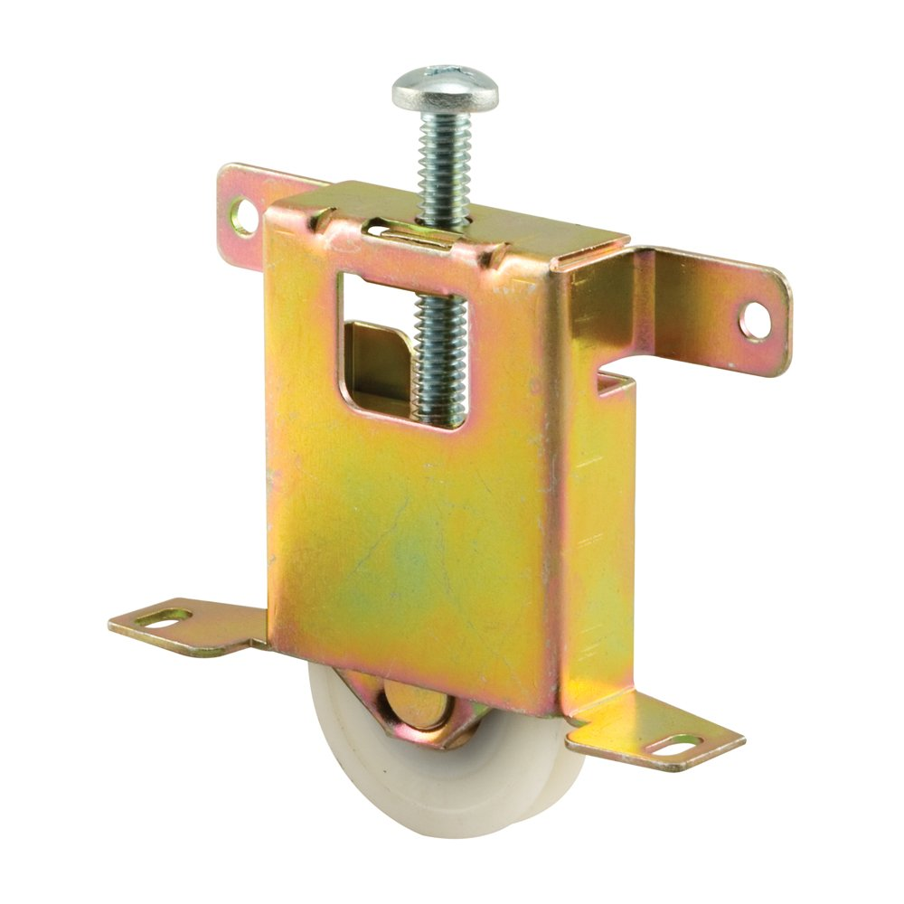 Prime-Line Products N 6861 Mirror Door Roller Assembly, 1-1/2 in., Steel Housing & Ball Bearings, Concave Plastic Wheel