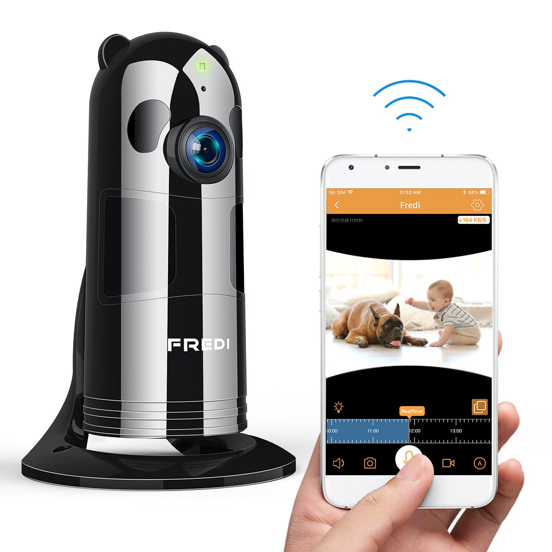 Wireless Baby Monitor Camera,1080P WiFi Security Camera IP Indoor Home Camera with app for Phone,with Night Vision,Two Way Talk,Motion Activated,Cloud Storage,for Pet/Baby/Elder/Nanny Cam