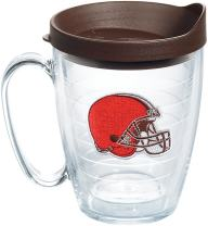Tervis 1198350 NFL Cleveland Browns Primary Logo Tumbler with Emblem and Brown Lid 16oz Mug, Clear