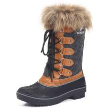 Lancholy Women's Waterproof Winter Snow Boots Mid-Calf & Knee-High