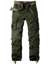 Men's BDU Casual Military Pants, Cotton Camo Tactical Wild Combat Cargo ACU Rip Stop Trousers with 8 Pockets