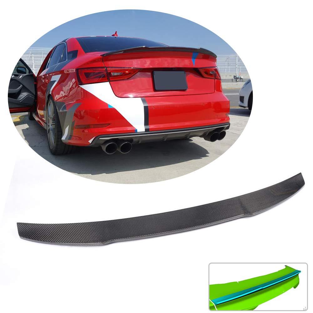 MCARCAR KIT Trunk Spoiler fits Audi A3 8V Base Sline S3 Sedan 2014-2019 Factory Outlet Carbon Fiber CF Rear Boot Lid Highkick Spoiler Wing Lip