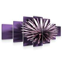 Startonight Huge Canvas Wall Art Abstract Purple Flower - Large Framed Set of 7 40 x 95 Inches