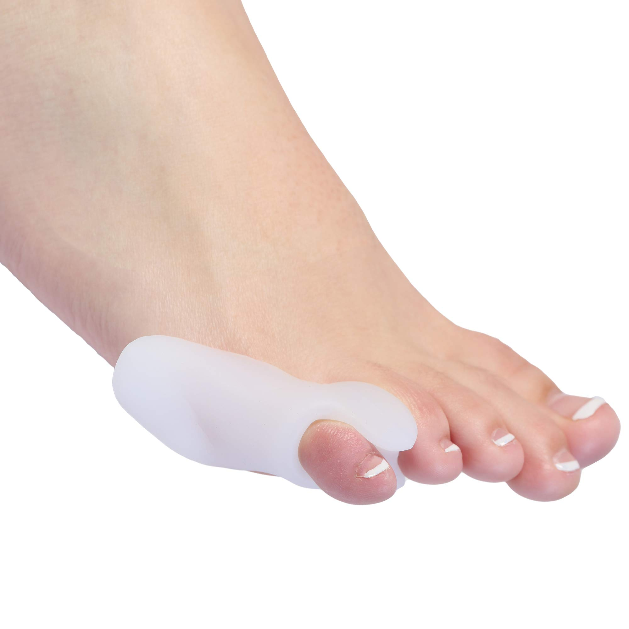 Bunionette Corrector Pads - 4-Pack of 2 Small Pinky Toe Tailors Bunion Pain Relief Protectors with Premium Gel Cushions Plus 2 Toe Separators - Best Foot Orthotics and Toe Straightener Sleeve. Unisex