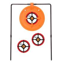 EZ-Aim Shooting Gallery Self-Healing Spinner Target, Gong Target by Allen, 12-14 Inches Tall, Shooting Targets, Gun - Rifle - Pistol - Airsoft - BB Gun - Air Rifle, Orange