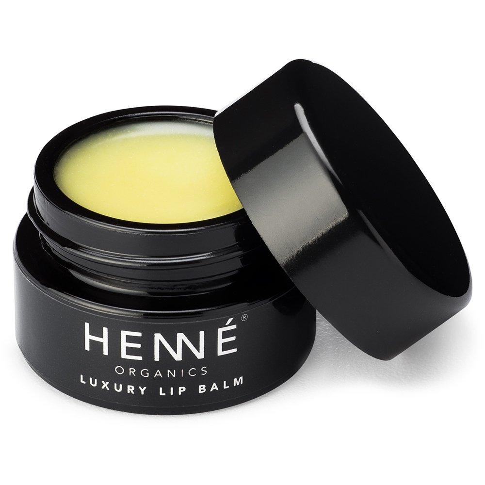 Henné Organics Luxury Lip Balm - Natural and Organic Moisturizer - 0.35 Ounce Jar
