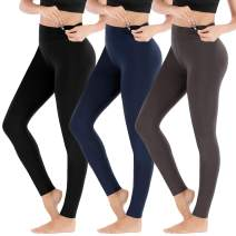 Heathyoga High Waisted Yoga Leggings for Women Tummy Control Workout Leggings Soft Cotton Leggings for Lounge