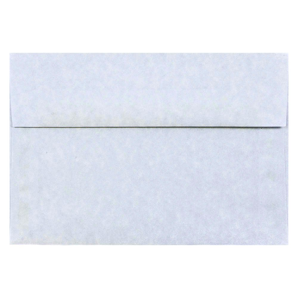 JAM PAPER A8 Parchment Invitation Envelopes - 5 1/2 x 8 1/8 - Blue Recycled - 50/Pack